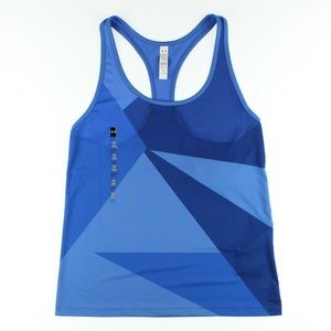 Under Armour Womens Geo Run Tank Top Shirt Blue